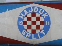 Closeup shot of a Hajduk Split logo in Hajduk, Croatia