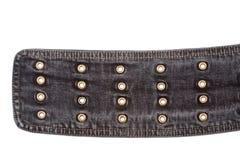 Closeup shot of jeans belt Stock Photos