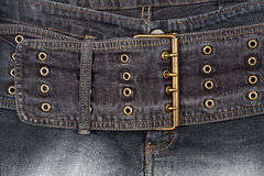 Closeup shot of jeans front Royalty Free Stock Photography