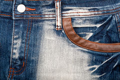 Closeup shot of jeans front Royalty Free Stock Photo