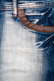 Closeup shot of jeans front Royalty Free Stock Images