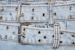 Closeup shot of jeans front Stock Image
