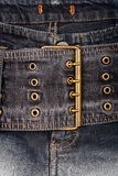 Closeup shot of jeans front Stock Photography