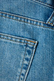 Closeup shot of jeans pocket Stock Images