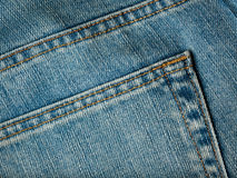 Closeup shot of jeans pocket Royalty Free Stock Photography