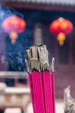 Closeup shot of joss stick in a Chinese temple Royalty Free Stock Photos