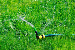 Closeup shot of lawn sprinkler Royalty Free Stock Images