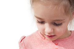 Closeup shot of little girl with long eyelashes Stock Image