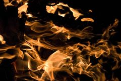 Closeup of a Campfire Royalty Free Stock Images