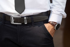 Closeup shot of male waist Stock Image