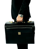 Closeup shot of man holding briefcase Royalty Free Stock Photography