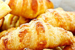 Closeup shot of mini croissants Royalty Free Stock Photos