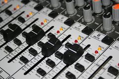 Closeup Shot of Music Mixer Stock Photo