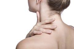 Closeup shot of neck and shoulder stock photo