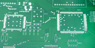 Closeup Shot of New Printed Circuit Board. Royalty Free Stock Images