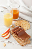 Norwegian brunost cheese Royalty Free Stock Photography