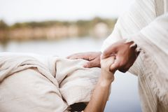Free Closeup Shot Of Jesus Christ Healing The Female With A Blurred Background Royalty Free Stock Images - 161826689
