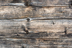 Closeup shot of old grey wooden boards texture Royalty Free Stock Photography