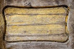 Closeup shot of old wooden door detail Stock Images
