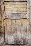 Closeup shot of old wooden door detail Royalty Free Stock Photography