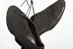Closeup Shot of Pair of Worn-out Latin Ballroom Dance Shoes Stock Photo