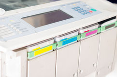 Closeup shot photocopier machine Stock Images