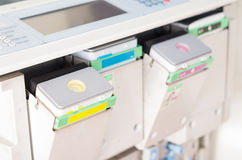 Closeup shot photocopier machine royalty free stock images