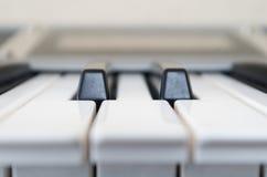 Closeup shot of piano Stock Images