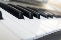 Closeup shot of piano Royalty Free Stock Photos