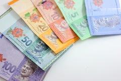 Closeup shot of Ringgit Malaysia. Banknotes Royalty Free Stock Image