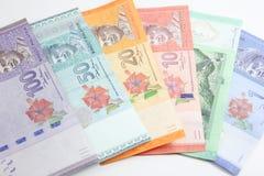 Closeup shot of Ringgit Malaysia. Banknotes Stock Images