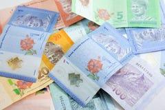 Closeup shot of Ringgit Malaysia. Banknotes Stock Image