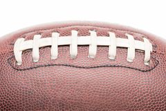 Rugby ball stitching. Closeup shot of rugby ball stitching Royalty Free Stock Photos
