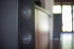 Closeup shot of a speaker Royalty Free Stock Photos