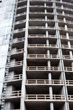 Closeup shot of unfinished apartment building wall. At a construction site Royalty Free Stock Photography