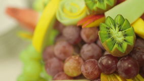 Closeup Shot Of Various Fresh Fruits. Closeup dolly shot of various fresh fruits stock footage
