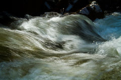 Closeup shot of water movement from a river Stock Image