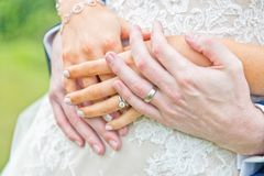Shot of wedding or engagement ring stock image
