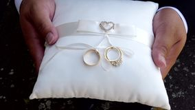 Shot of wedding or engagement rings. Closeup shot of wedding or engagement rings stock video footage