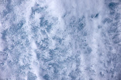 Closeup shot of winter ice texture background Stock Photography