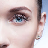Closeup shot of woman eye with day makeup Stock Photo