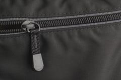 Closeup shot of a zipper on a bag Stock Image