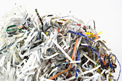 Closeup of shredding paper Stock Photography