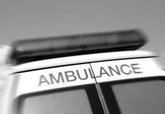 Sign on ambulance Royalty Free Stock Photography
