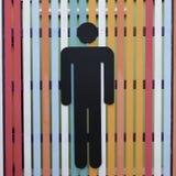 Closeup sign of men Stock Photo