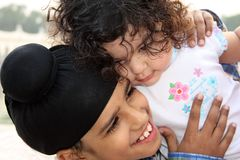 Closeup of sikh children Stock Photography