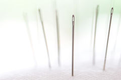 Closeup silver Needle with beauty bokeh lighting Royalty Free Stock Images