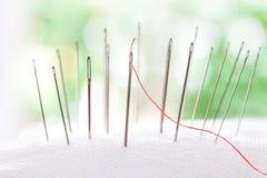Closeup silver Needle with beauty bokeh lighting Royalty Free Stock Photos