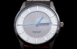 Closeup silver wrist  watch Stock Images