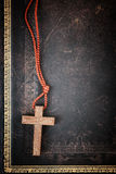 Christian Cross on Bible Royalty Free Stock Images